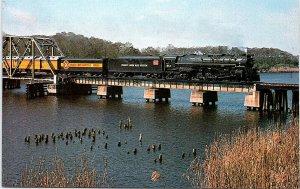 Postcard~Family Lines Rail System~Seaboard Coast Line~Steam~Train~Florida~A41