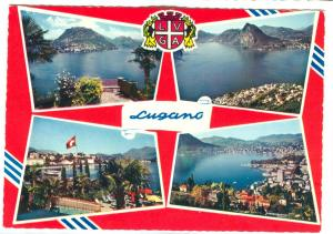 Switzerland, Lugano, multi view, unused Postcard