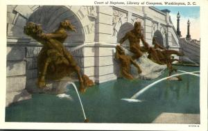 Court Of Neptune - Library of Congress, Washington, DC - Linen