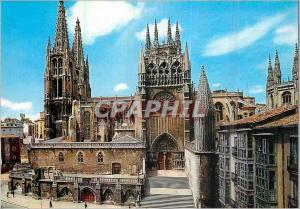 Modern Postcard Burgos Cathedral Facade Sud