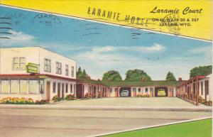 Laramie Court Motel Laramie Wyoming 1957