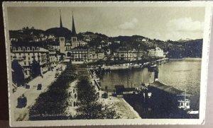 Vintage Postcard Luzern Schwetzerhof Lucerne Switzerland near Zurich