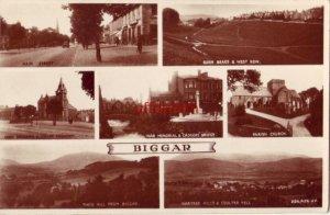 UK SCOTLAND. 7 VIEWS OF BIGGAR incl. MAIN STREET, WAR MEMORIAL & CADGERS BRIDGE