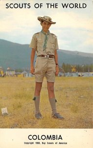Scouts Post Card Scouts of the World Colombia Postcard Unused