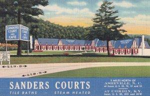 CORBIN, Kentucky, 1930-1940's; Sanders Courts