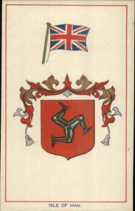 ISLE OF MAN Heraldic Crest EFA E.F.A. Series Coat Arms c1910 Postcard EXC COND