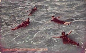 The Floaters, Great Salt Lake, Utah, Early Postcard, Used in 1913