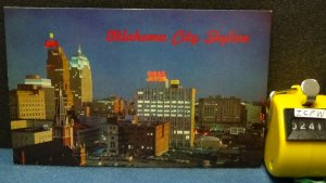 STD Vintage Skyline View of the Capitol Oklahoma City Unposted