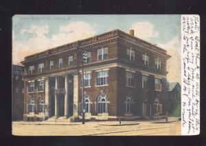 PEORIA ILLINOIS CREVE COEUR CLUB BUILDING ILL. ANTIQUE VINTAGE POSTCARD
