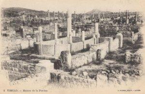 Timgad Algeria Maison Old Postcard