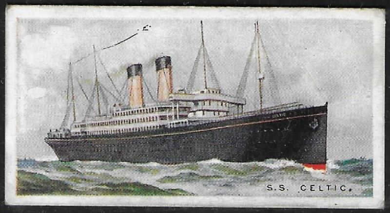 Canada 1924 Imperial Tobacco CELTIC Ships ot the World Cigarettes Card