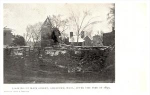 16922  MA Amesbury Looking up Main Street after Fire 1899