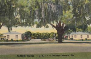 WINTER HAVEN , Florida, 1953 ; Faber's Motel