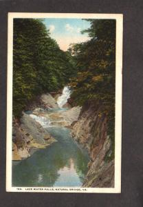 VA Lace Waterfalls Waterfall Water Fall Natural Bridge Virginia Postcard Vintage