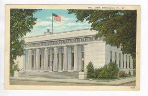 Exterior, Post Office, Bennington, Vermont, PU-1941
