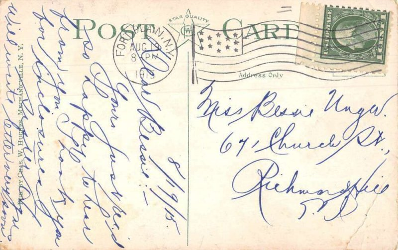 Fort Plain New York Railroad Station Vintage Postcard AA14970