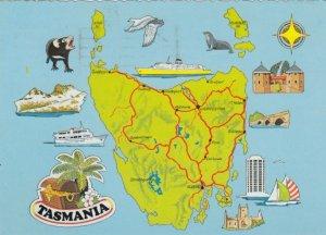 TASMANIA , Australia , 50-70s ; Map