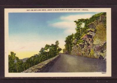 Virginia PC Sky-Line drive near Swift Run Gap unused