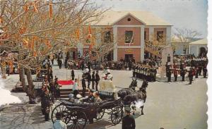 Peppercorn ceremony at Market Square, St. Georges, Bermuda, 40-60s