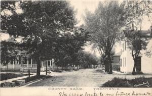 F12/ Trenton Ohio Postcard 1907 County Road Homes Butler County