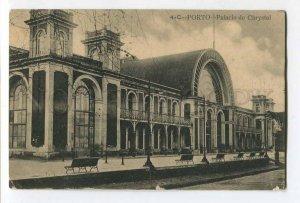 287255 PORTUGAL PORTO railway station Vintage military postage RPPC