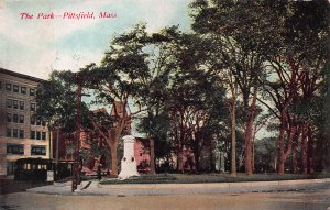 The Park, Pittsfield, Massachusetts, Early Postcard, Used in 1910