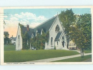 W-border LIBRARY SCENE Hallowell - Near Augusta Maine ME AF1618