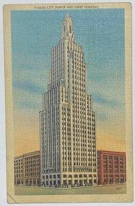 Old Vintage Linen Era Postcard Kansas City Light & Power Company Kansas City MO
