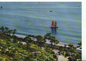Japan Postcard - The Beach at Suma - Kobe - Ref 12901A