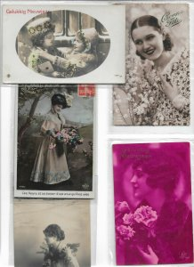 Jugendstil People RPPC Postcard Lot of 10 01.11