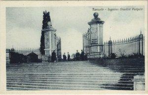 CPA Taranto Ingresso Giardini Peripato ITALY (809336)