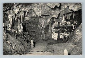 Luray VA-Virginia, Luray Caverns, Cave, Midway Entrance Avenue, Vintage Postcard