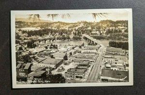 Mint Vintage Bonners Ferry Idaho Birds Eye View RPPC Real Photo