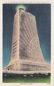 Thge Wright Memorial By Night Kill Devil Hills North Carolina