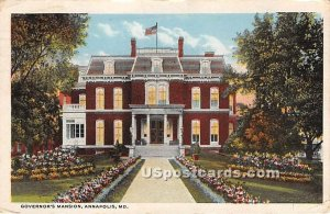 Governor's Mansion in Annapolis, Maryland