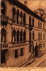 CPA VERONA Palazzo da Schia, gia detto Casa Aurea a Ca' d'Oro. ITALY (448614)