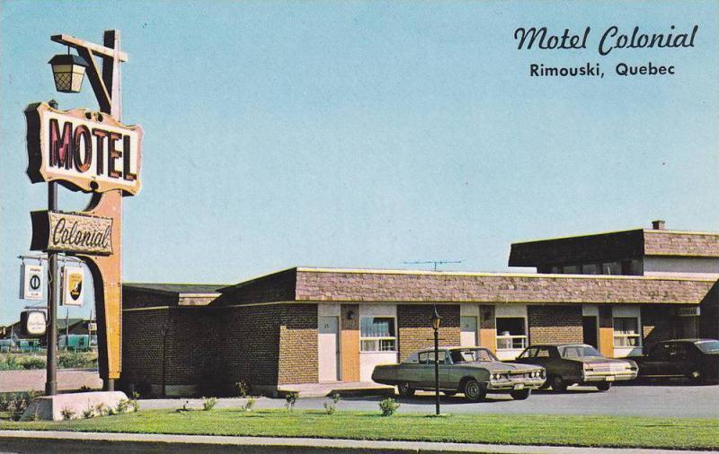 Motel Colonial, Rimouski, Quebec, Canada, PU-1965