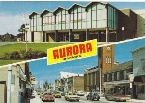 Classic Cars, Community Centre, Downtown View Along Yonge Street, Aurora, Ont...