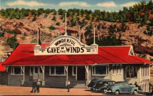 Colorado Manitou Springs Cave Of The Winds Entrance Curteich