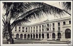 panama, CRISTOBAL, Hotel Washington (1930s) RPPC