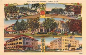 Temple Texas~Scott & White Hospital~Campus Multi-view~Art Nouveau~1930s Linen PC