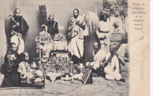 India Punja Or Religious Ceremony At A Wealthy Man's House