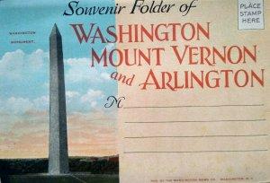 c.1920 Washington DC Arlington Vintage Postcard Souvenir Folder