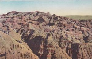Lost Trail Barrier The Badlands Nat Monument South Dakota Hand Colored Albertype
