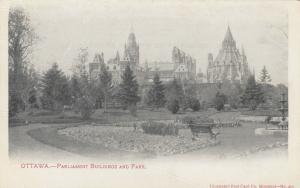 OTTAWA , Ontario , Canada , 1901-07 , Parliament Bldg & Park