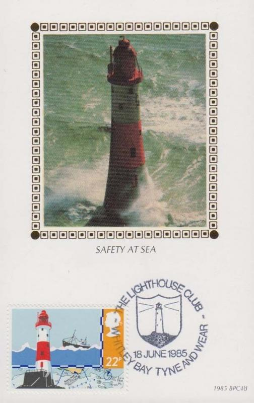 Safety At Sea Lifehouse Tyne & Wear Club Whitley Bay Ship Benham First Day Cover