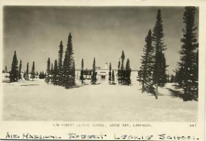 canada, LABRADOR, Goose Bay, Robert Leckie School (1955) RPPC Postcard