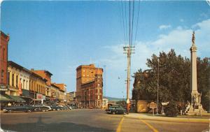 Warren PA~ Pennsylvania Avenue~Storefronts~Macks~Civil War Monument~50s Cars