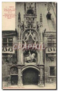 Old Postcard Nancy Ducal Palace Small and Large Gatehouse