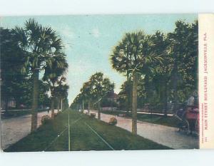 Pre-1907 STREET SCENE Jacksonville Florida FL A0110
